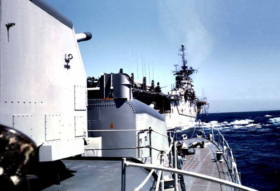 Approaching the USS Boxer for Unrep